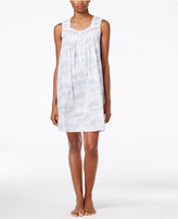 Eileen West Scalloped Lace-Trimmed Nightgown