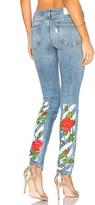 Off-White Diag Roses 5 Pocket Skinny Jeans.