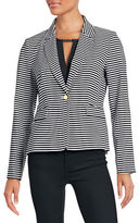 Calvin Klein Striped One-Button Blazer