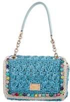 Dolce & Gabbana Sicilian Cart Crochet Raffia Tote