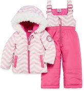 U.S. Polo Assn. Heavyweight Chevron Snow Suit-Baby Girls