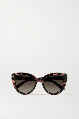 Tom Ford Izzi Cat-eye Tortoiseshell Acetate Sunglasses