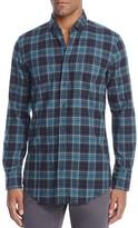 BOSS ORANGE Elonge Plaid Slim Fit Button Down Shirt