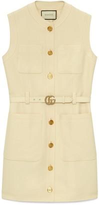 Gucci Cady silk wool vest with DoubleG
