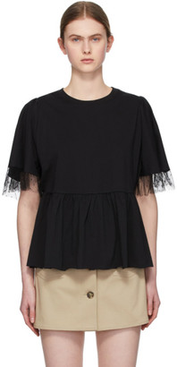 RED Valentino Black Tiered T-Shirt