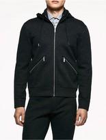 Calvin Klein Platinum Heathered Jersey Hooded Jacket
