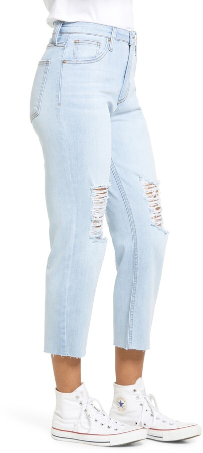 Thumbnail for your product : STS Blue Avery Ripped High Waist Crop Tapered Jeans