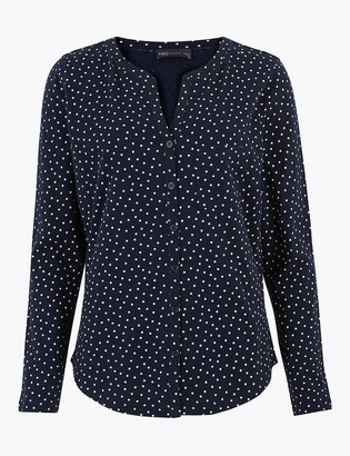 Marks and Spencer Pure Cotton Polka Dot Blouse