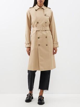 A.P.C. Greta Cotton-twill Trench Coat - Womens - Beige
