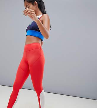 Asos 4505 4505 Petite premium training legging with mesh panel and zip detail