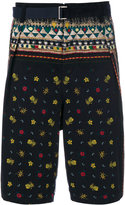 Sacai Pineapple print belted shorts - men - Cotton - 2
