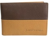 James Campbell Men's Leather Slimfold Wallet - Brown