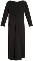 Lemaire Pleated-front wool-blend dress