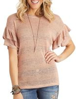 Democracy Double Ruffle Tee