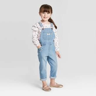Osh Kosh Toddler Girls' Embroidered Overall - Blue