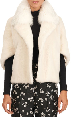 Yves Salomon Mink Fur Jacket With Fox Collar