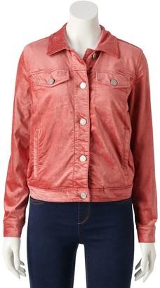 Lauren Conrad Women's Corduroy Trucker Jacket