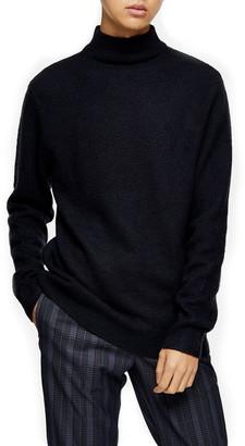 Topman Harlow Side Zip Funnel Neck Sweater