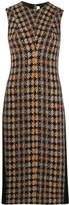 Victoria Beckham tweed panel midi dress