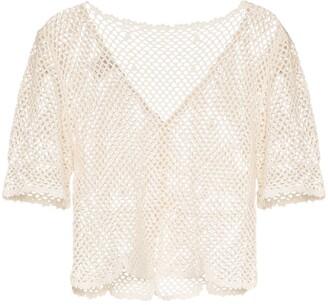 Peony Swimwear Crochet Knit Top