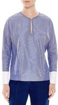 Sandro Charlie Variegated Stripe Shirt