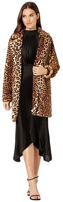 Blank NYC Faux Fur Leopard Coat in Note To Self (Multicolor) Women's Clothing