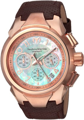 Technomarine Women's Sea Gold Quartz Watch with Leather Calfskin Strap