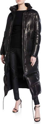 Tom Ford Long Quilted Napa Leather Puffer Jacket