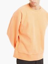 Yeezy Orange Oversized Cotton Sweatshirt