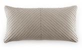 "DwellStudio Pleated Linen Oblong Decorative Pillow, 12"" x 24"""