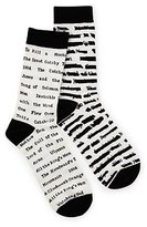 Out of Print Banned Book Socks