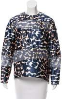 Maison Rabih Kayrouz Satin Printed Top w/ Tags