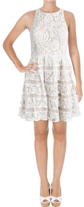Aidan Mattox Aidan Women's Strtch Lace Party Dress