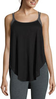 Xersion Jersey Cage 2Fer Tank Top
