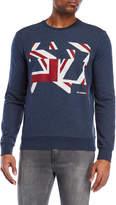Ben Sherman Distort Union Jack Sweatshirt