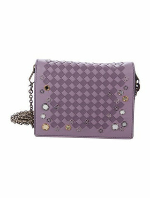 Bottega Veneta Intrecciato Palio Chain Wallet gold