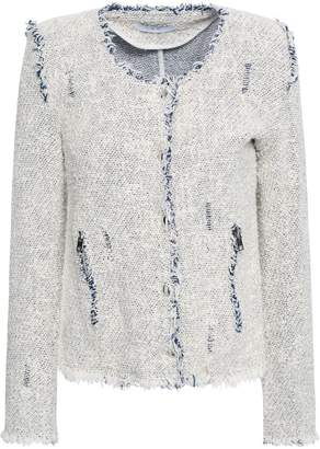 IRO Agnette Distressed Boucle Cotton-tweed Jacket
