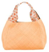 Nancy Gonzalez Crocodile-Trimmed Handle Bag
