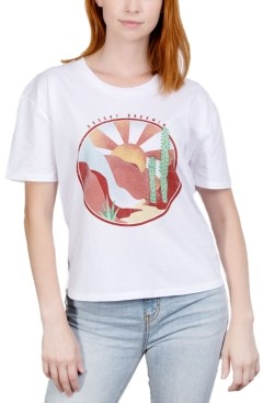 Rebellious One Juniors' Desert Graphic T-Shirt