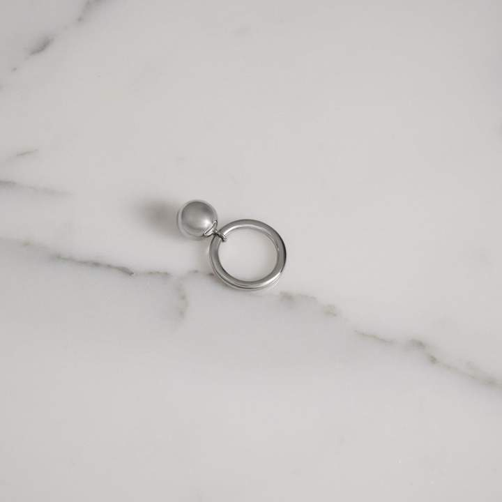 Burberry Charm Palladium-plated Ring