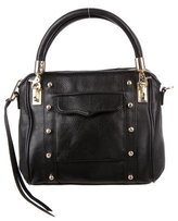 Rebecca Minkoff Studded Pebbled Leather Satchel