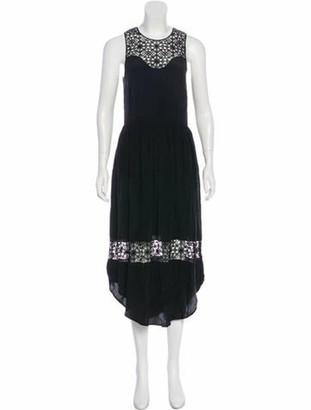 Ulla Johnson Sleeveless Midi Dress Black