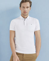 Ted Baker Flat knit collar cotton polo shirt