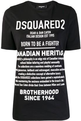 DSQUARED2 Description print T-shirt