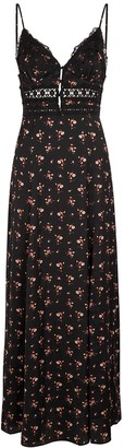 Free People Out & About floral-print satin maxi dress