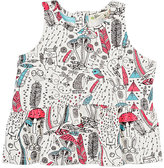 Bonnie Baby Wilderness-Print Cotton-Blend Peplum Top