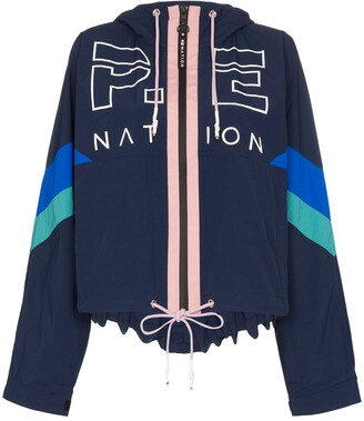 P.E Nation Electric Eye logo print jacket