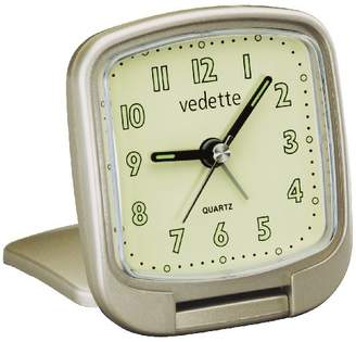 Vedette Star 204.1014.07 - Travel Alarm Clock - Quartz Analogue - Progressive Alarm - Functions activated by pressing Glass - Light