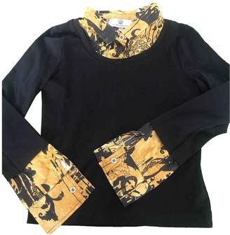Versace Black Cotton Knitwear