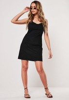 Missguided Black Bust Cup Twill Mini Dress